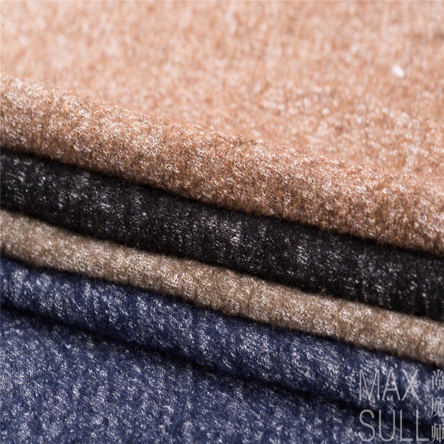 Wool /Cotton Fabric for Autumn /Winter in Black