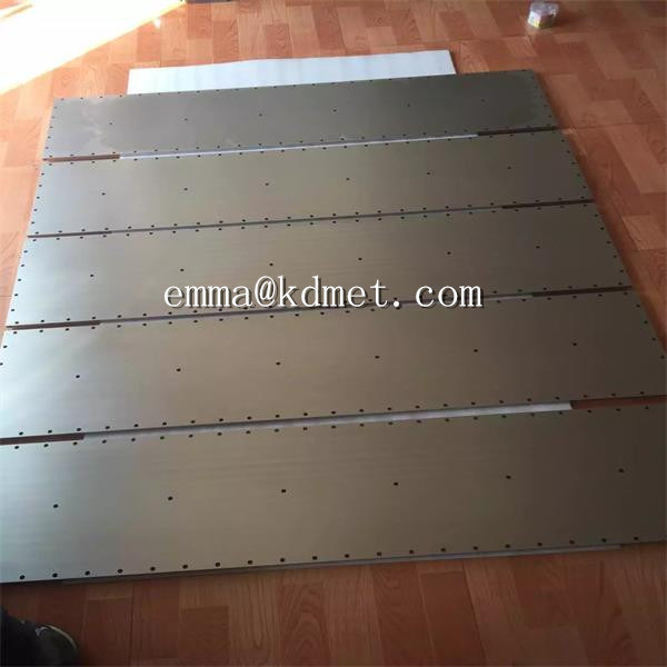 High Purity Tungsten Target Sheet/Tungsten Sheet/ Tungsten Sputtering Target