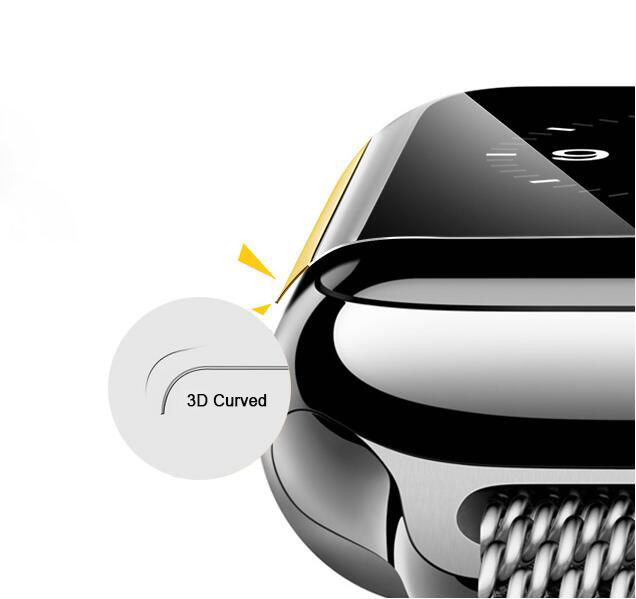 3D Curved Surface Weather Resistance Silk Printing Tempered Glass Film for Apple Watch