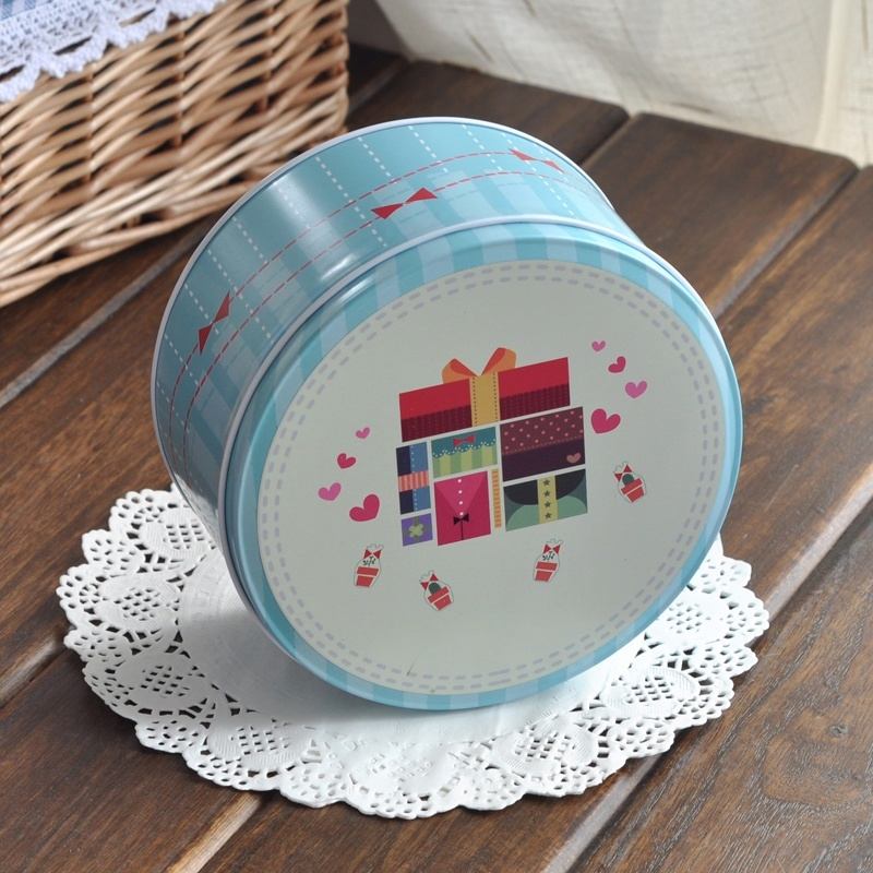 Round Gift Tin Packaging Box