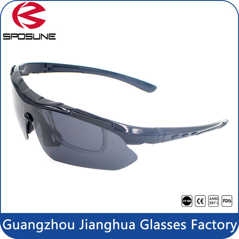 Newest Factory Wholesale Blue Welding Anti UV Filter Lens Safety Sunglasses Superlight Frame with Myopia Insert Cycling Glasses