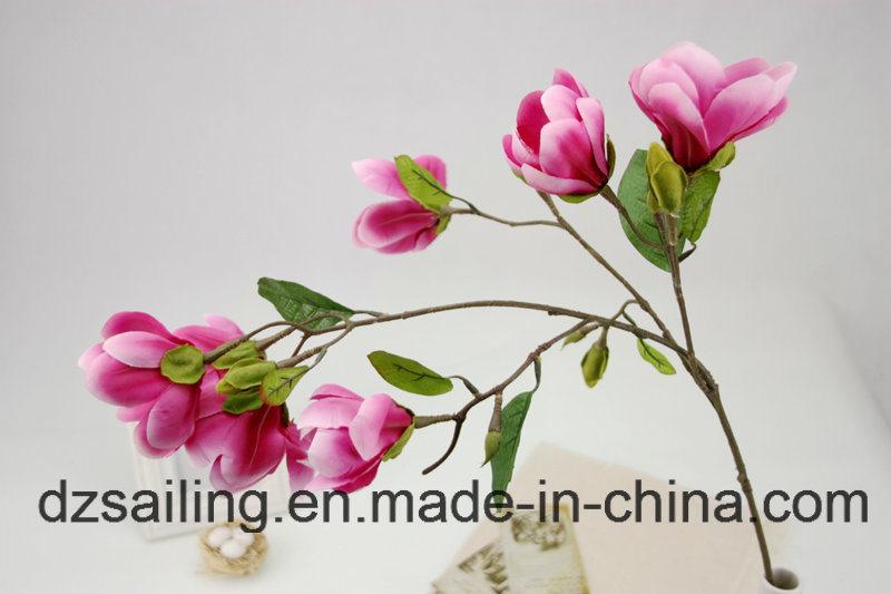 High Quality Decoration Artificial Flower of Magnolia Spray (SW04802)