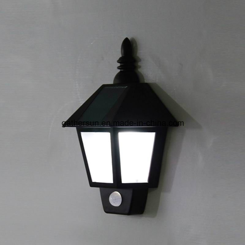 Plastic Housing Solar Wall Night Lamp with PIR Sensor