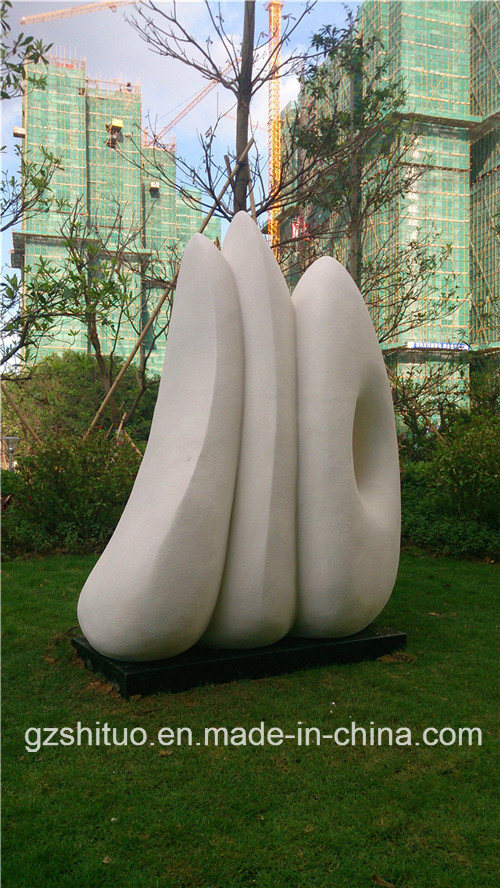 White Impression, Outdoor Garden Resin or Stainless Steel Sculpture