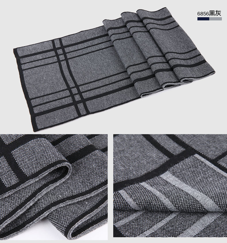 Men′s Fashion Wool Knitted Winter Warm Long Scarf (YKY4617)