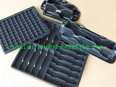 Thermoformed HIPS Plastic Sheet Conductive for Electronic Packing