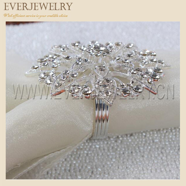 Crystal Rhinestone Napkin Ring, Napkin Buckle