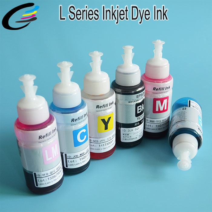 70ml Bottle Water Based Inkjet Dye Ink for Epson L1300 L1800 L800 L801 L810 L850 All in One Printer