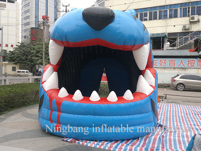 Airblowing Inflatable Leopard Head Tunnel for Outdoors Promotion
