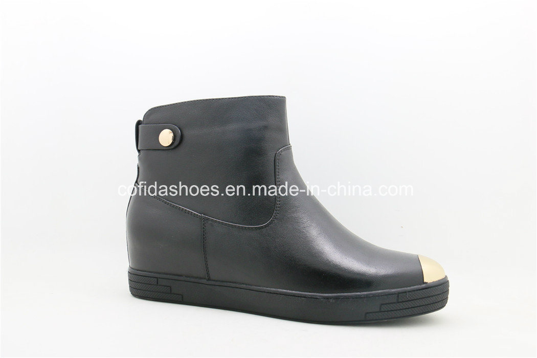 New Causal Comfort Leather Women Short Boots