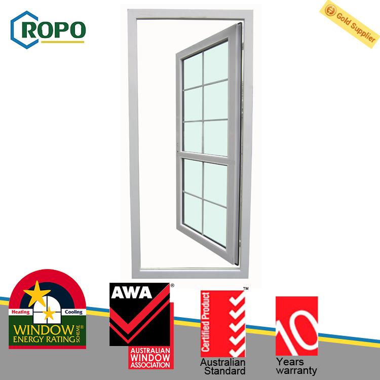 Australian Standard UPVC Plastic French Casement Glass Door Design