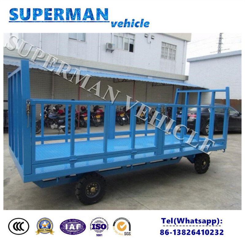 3t Utility Flatbed Luggage Transport Cargo Full Trailer