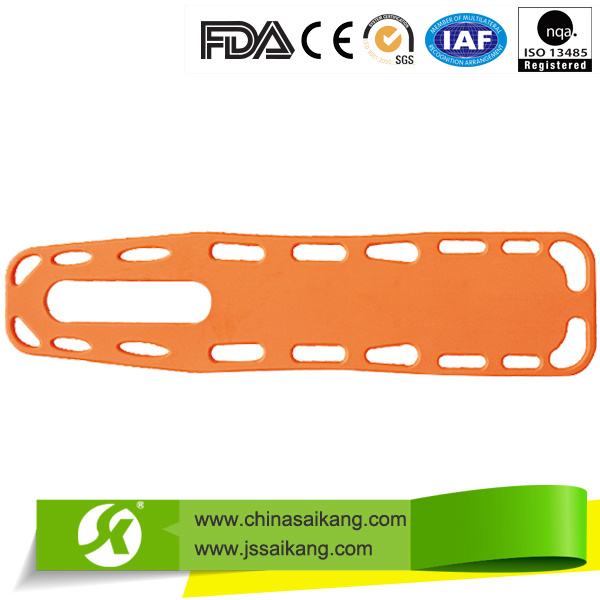 Hospital Plastic Back Medical Stretcher, Spine Board with Straps