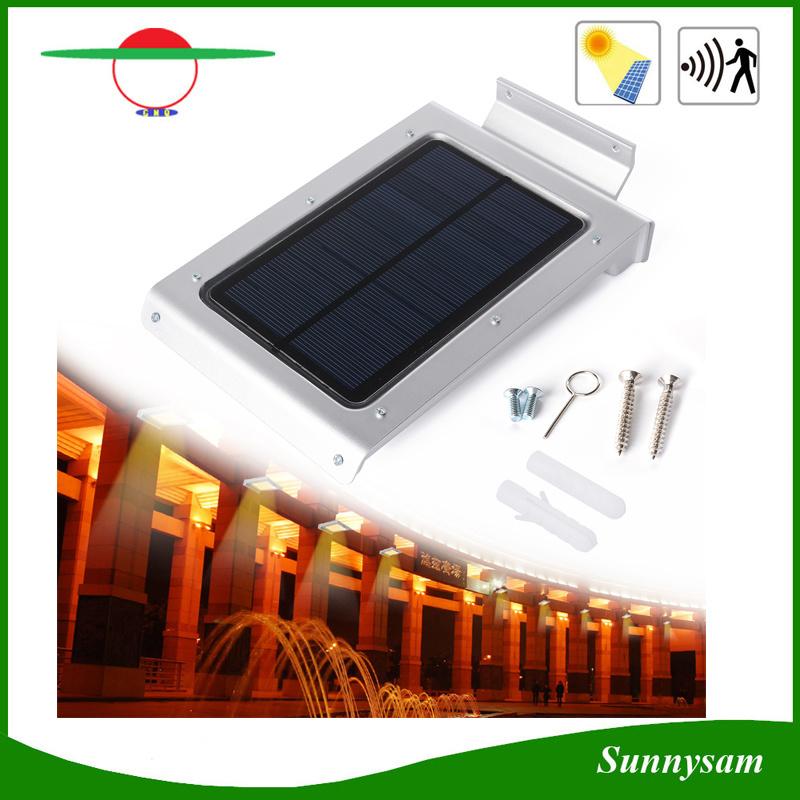46 LEDs Waterproof Human Body Sensor Solar Light for Garden