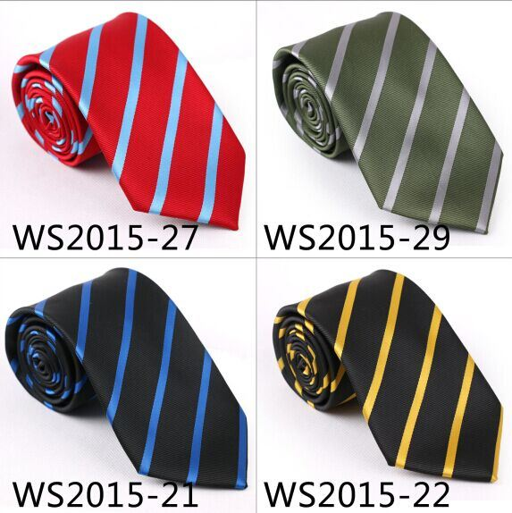 Fashionable Striped Silk/Polyester Gift Tie (6224-1)