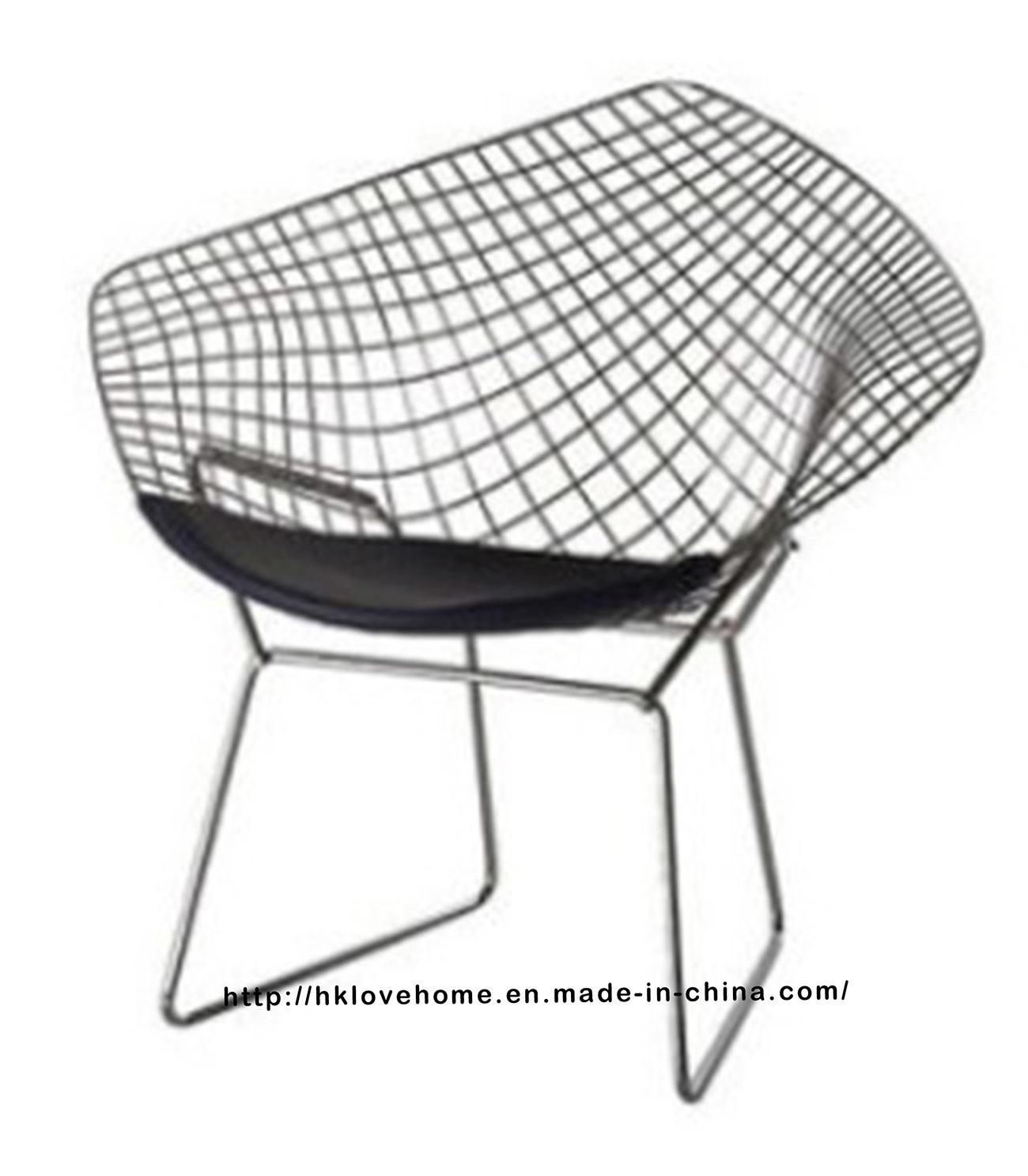 Modern Dining Restaurant Knock Down Wire Diamond Chair