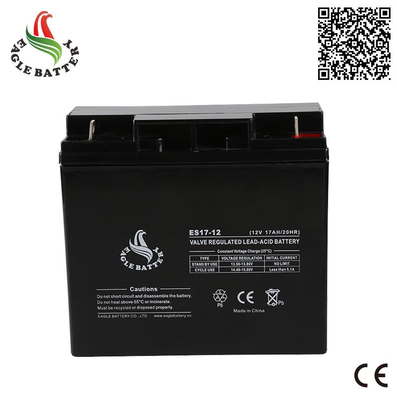 12V 17ah Solar Rechargeable Lead Acid Battery