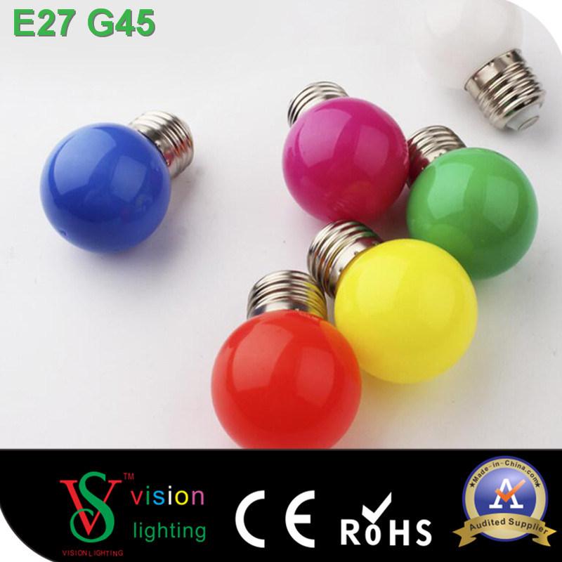 G45 E27 1W Color LED Bulb Decorative LED Bulb