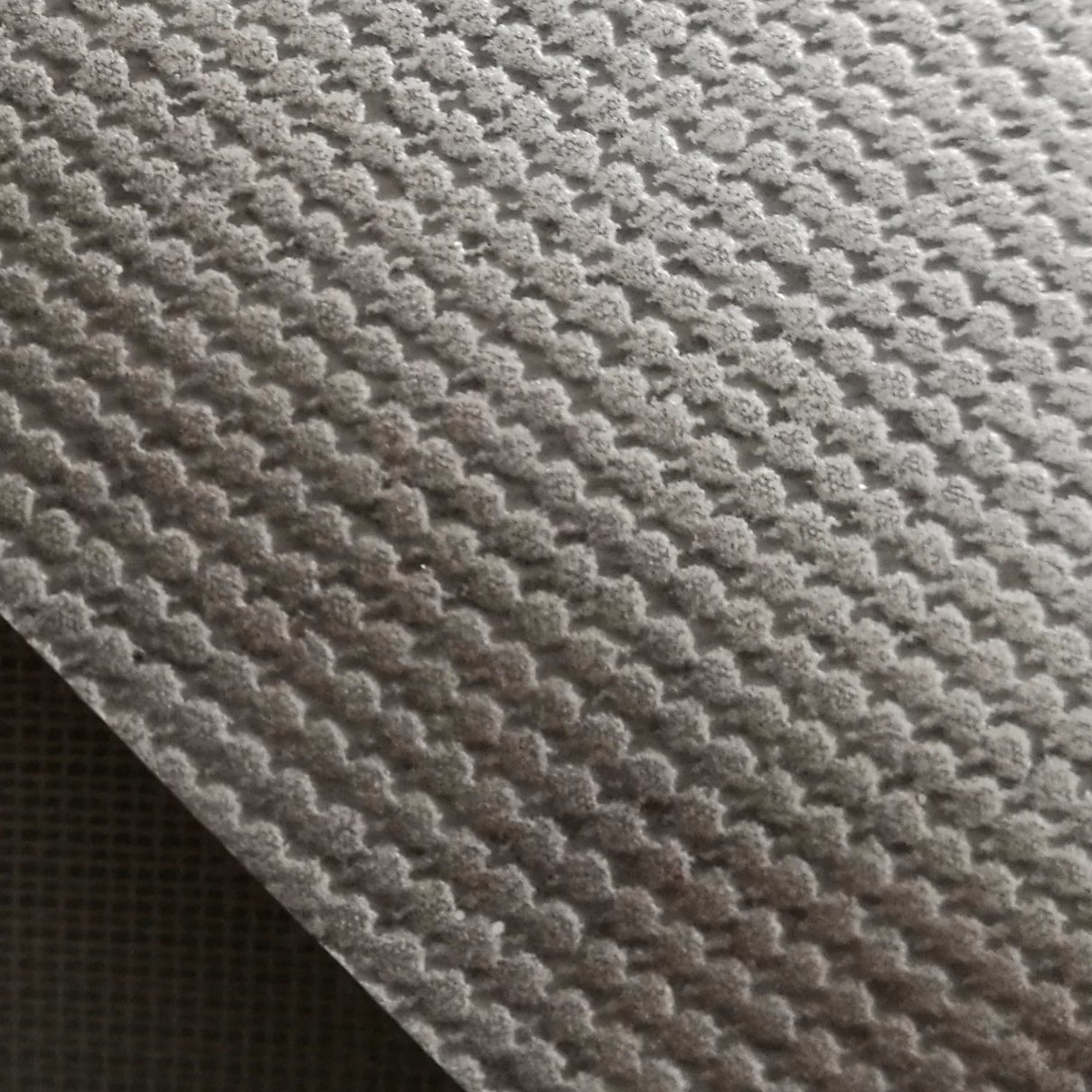 PVC Leather Gray Printing Silver Shoe Leather