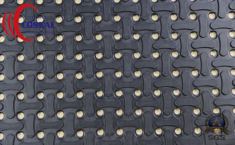 Dog-Bone Drainage Rubber Mat for Floor