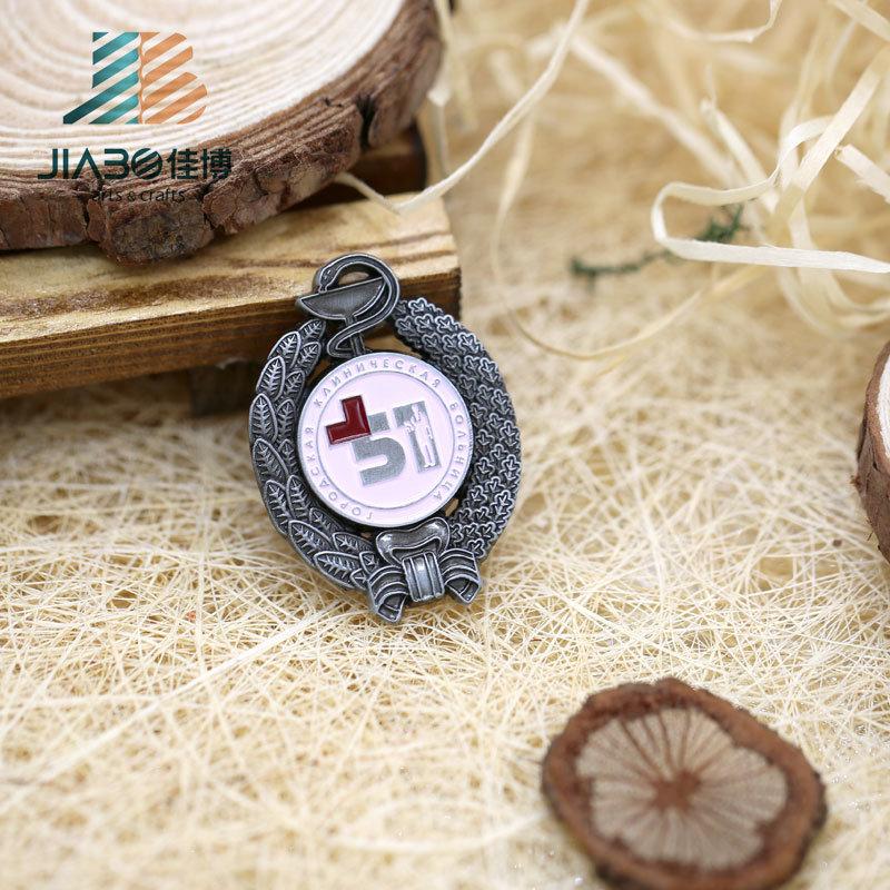 Antique Color Custom Metal Enamel Malaysia Lapel Pin Badge