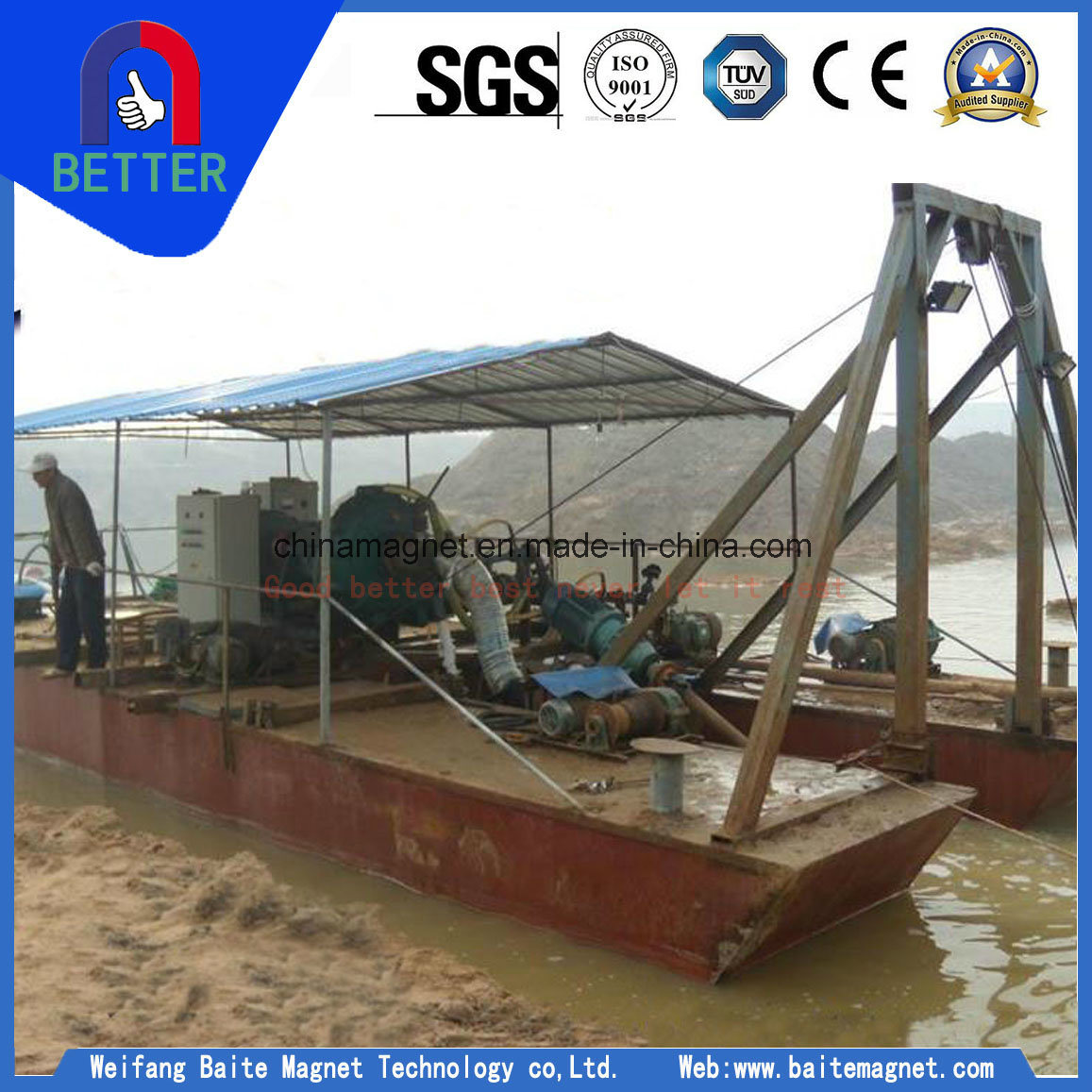 Sand Jet Suction Digging Dredger/Sand Dredger for Iron Sand Mine