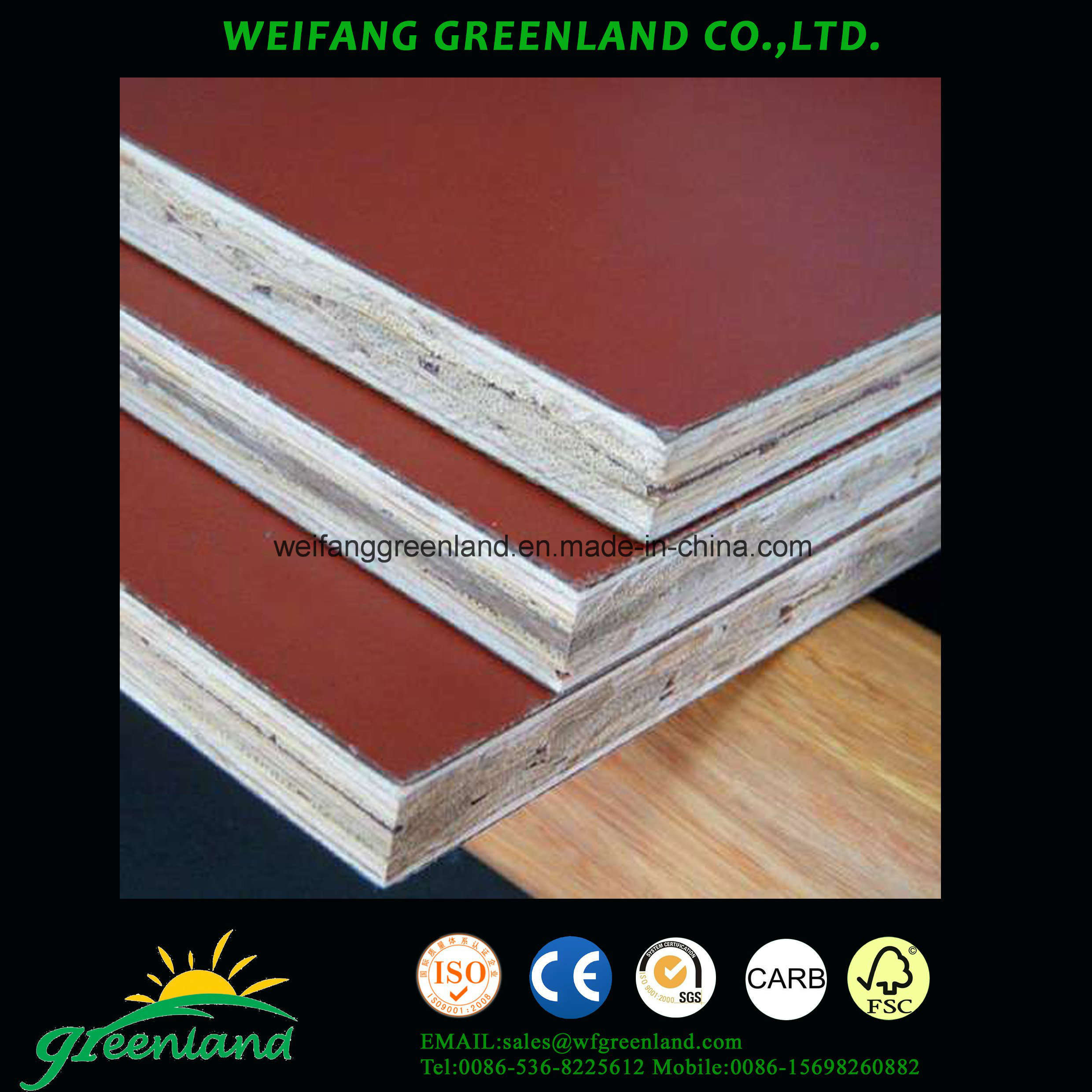 Bamboo Formed Board for Construction