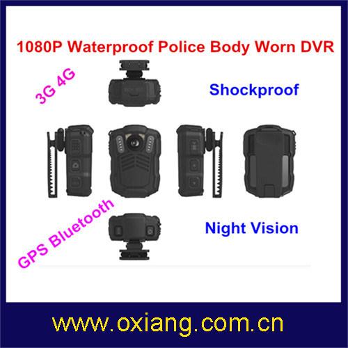 WiFi / Bluetooth / 4G / 3G / GPS Police Body Worn Camera with IR Night Vision