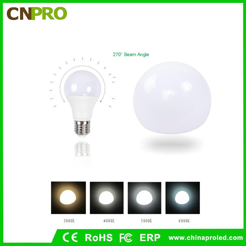 High Quality Aluminum Plastic Bulb Global Shape LED Lamp