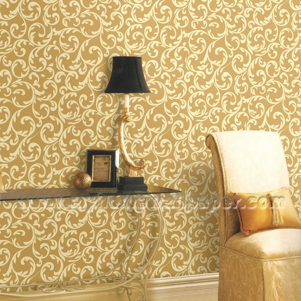 Papier peint europ en de vinyle de chambre coucher de for Modele de decoration de chambre a coucher