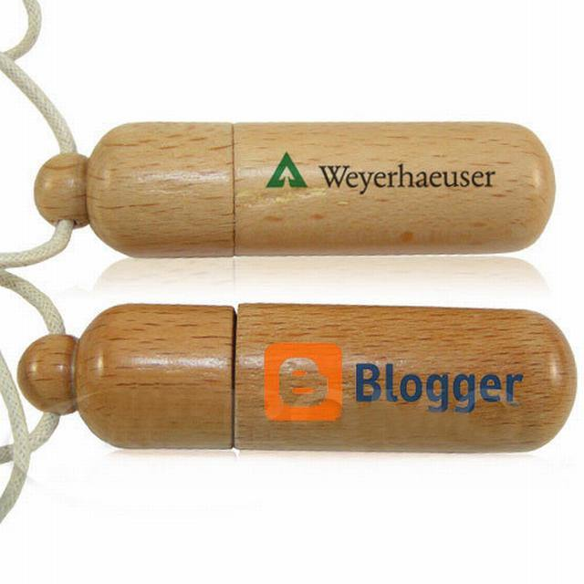 Fashional Wooden USB Drive Flash Logo Printed