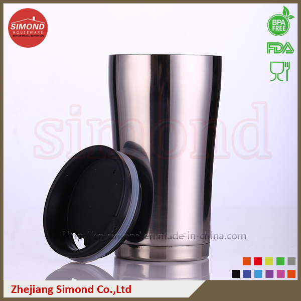 350ml Stainless Steel Vacuum Beer Mug for Warm/Cold Drink