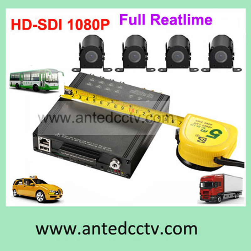 4CH 1080P Hard Drive Mobile DVR H. 264 Taxi Alarm Monitoring Solution System
