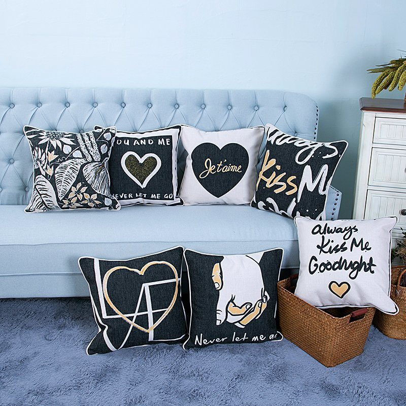 Foil/Gold&Silver Printed Decorative Cushion/Pillow (MX-49)
