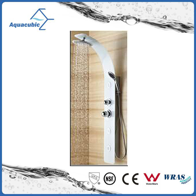 Contemporary Elegant Bathroom Wall Monunted Tempered Glass Shower Panel (ASP8215)