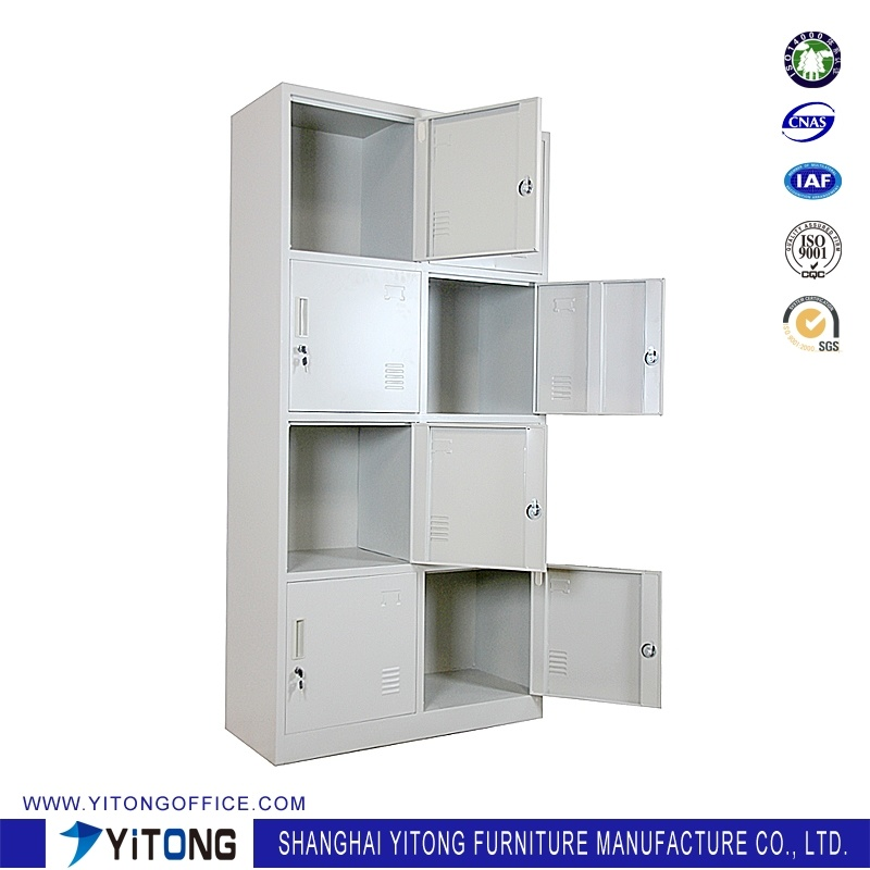 Yitong 8-Door Metal Storage Cabinet / Office Use Steel Locker