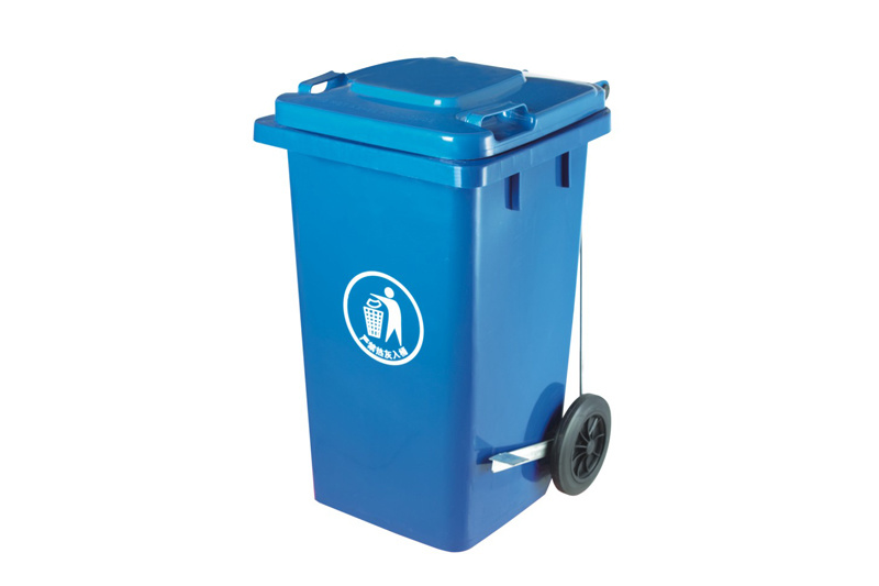 Blue Recycling Wheelie Bin with Pedal