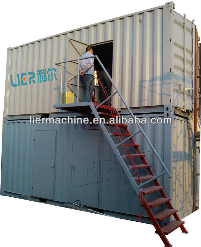 Containerized Flake Ice Plant for Concrete Cooling