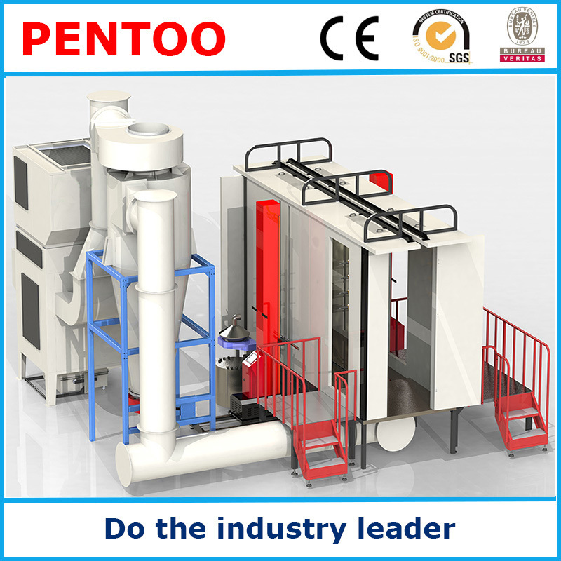 High Quality Clean-Easy Automatic Powder Coating Booth for Complex Workpieces
