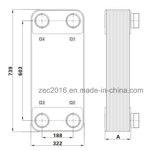 Brazed Plate Heat Exchanger for HVAC, Heat Pump