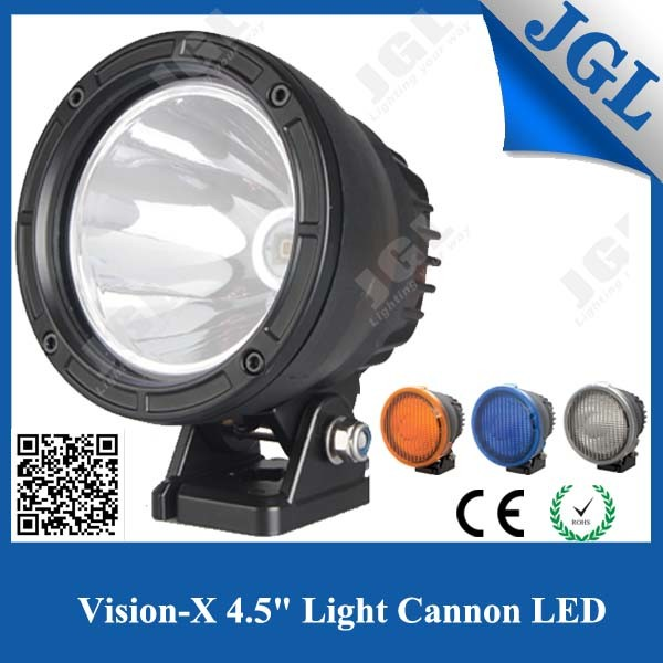 25W Cannon LED Work Light, Luminus 25W LED Driving Light for Heavy Duty, Vision X Style LED Work Lamp with Amber Cover