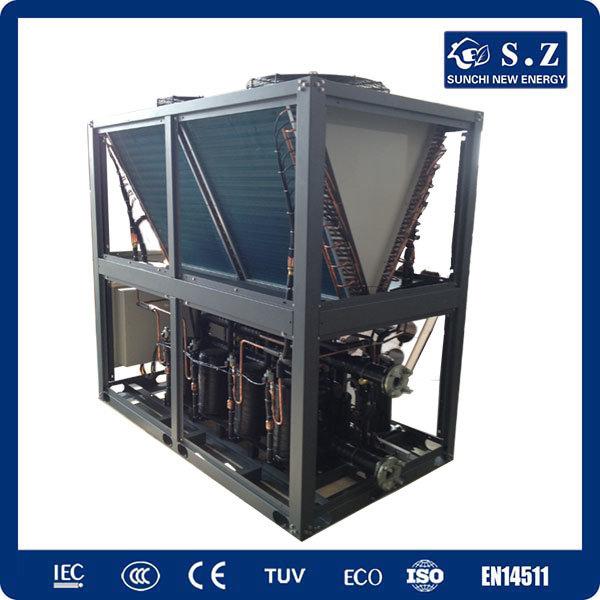 Save75% Electric Cop4.23 R410A 12kw, 19kw, 35kw, 70kw, 105kw 380voutlet 60deg. C OEM Air Source Heat Pump Water Heater