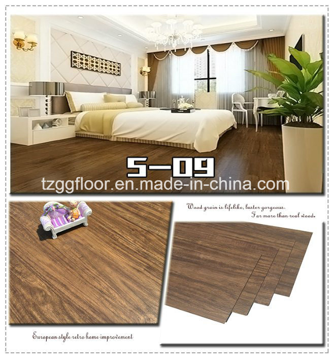 Factory Wholesale Waterproof Laminated Wood Grain Cheap PVC Vinyl Flooring