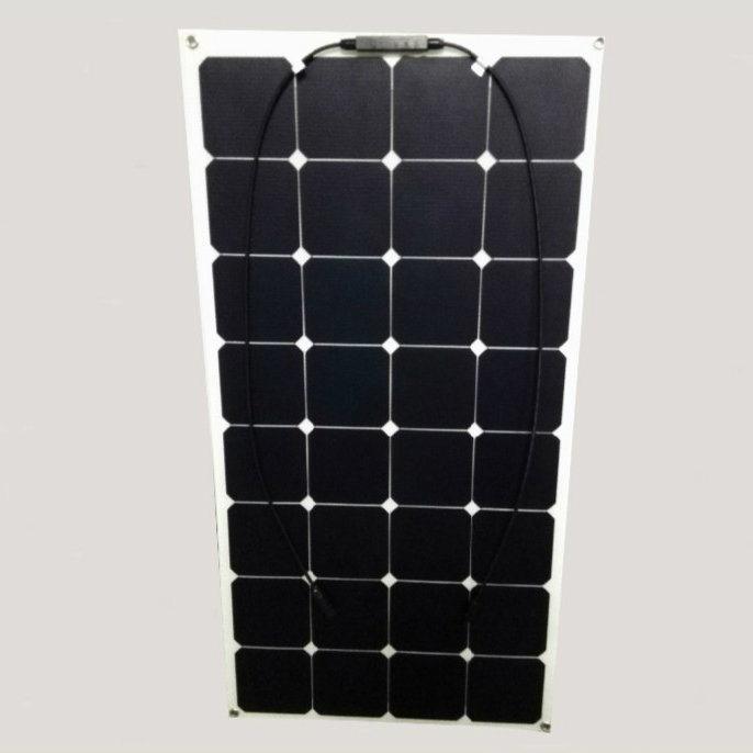 Thin Film Sunpower Cells 100watt Semi Flexible Solar Panel 18V