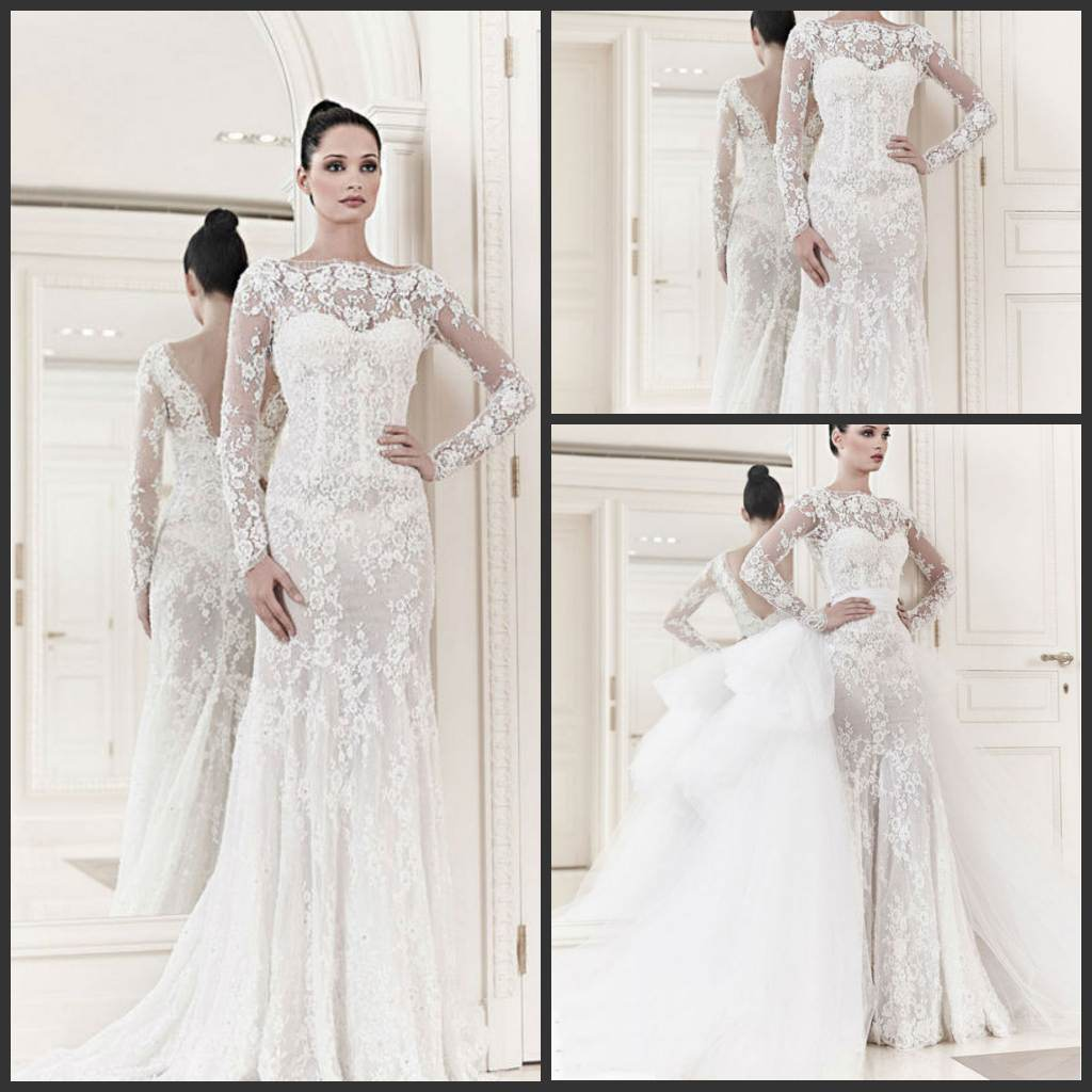 Drop Sleeve Wedding Gowns With: China 1 PC Drop Shipping Bridal Wedding Dress Long Sleeve