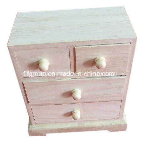 Natural Color Eco-Friendly Drawers Customized Paulownia Wooden Cabinet