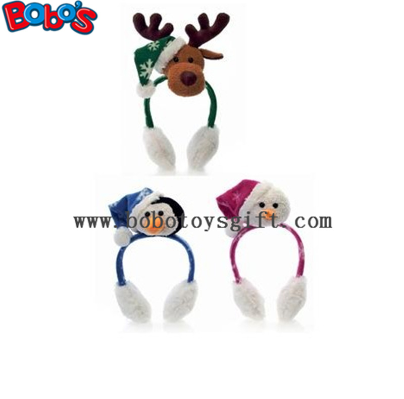 Fashion Design Plush Animal Xmas Ear Muff Be Christmas Decorate