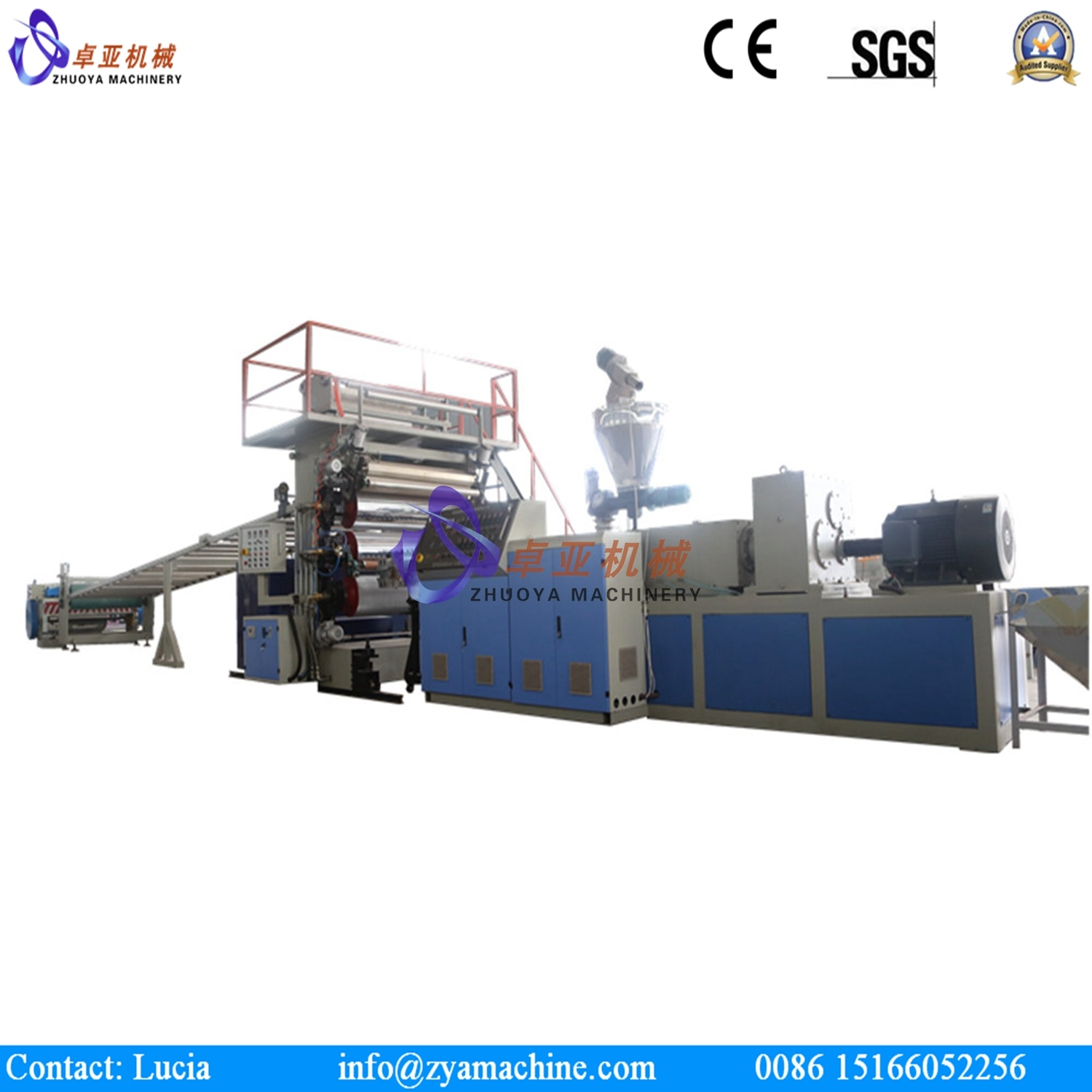 PVC Artificial Marble Board/ Imitated Decorative Wall Panel Extruder Machine