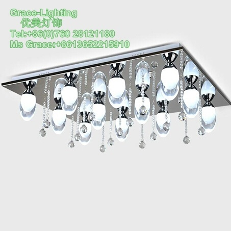 Have Stock Modern Crystal LED Ceiling Lamp (GX-2206-12)