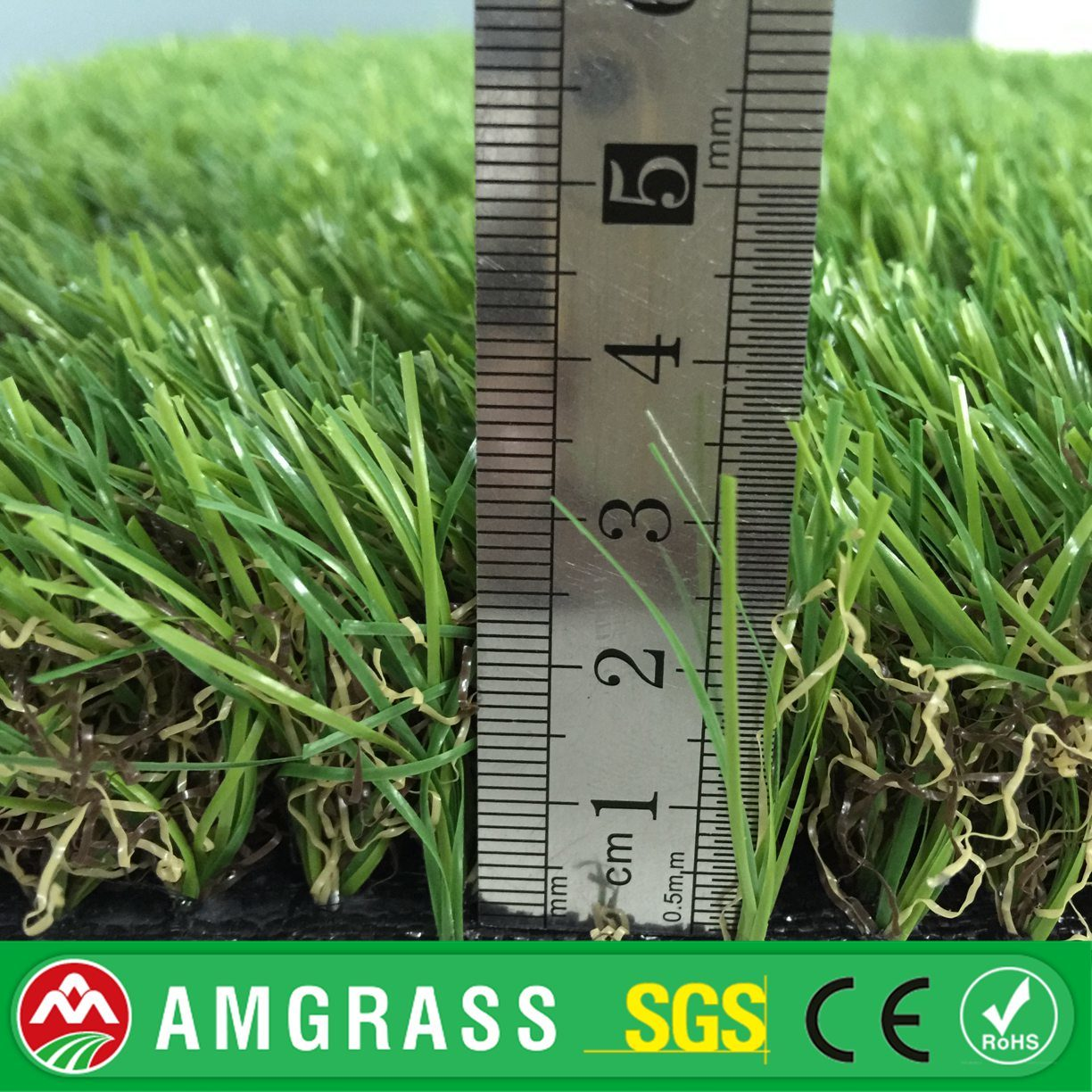 Three Color with Natural Soft Feeling Landscaping Artificial Grass